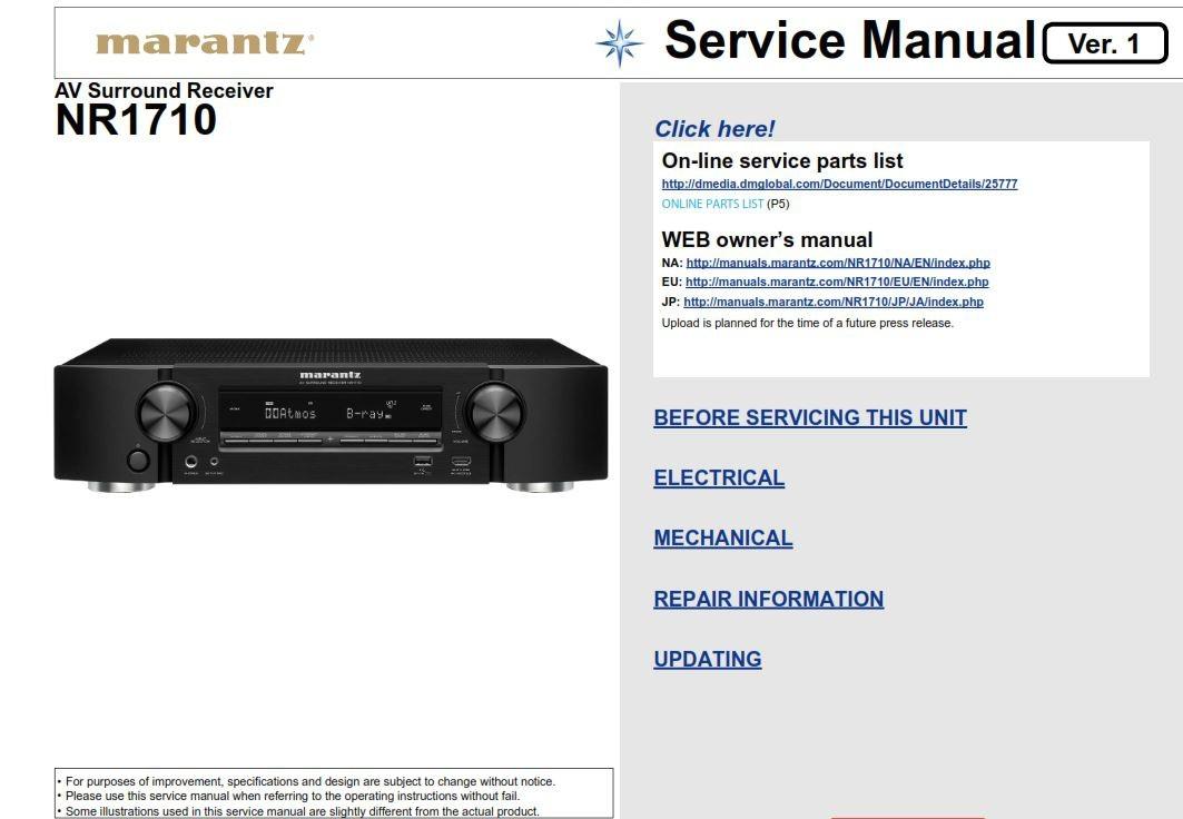 Tx service manual nr616 onkyo Mode d'emploi