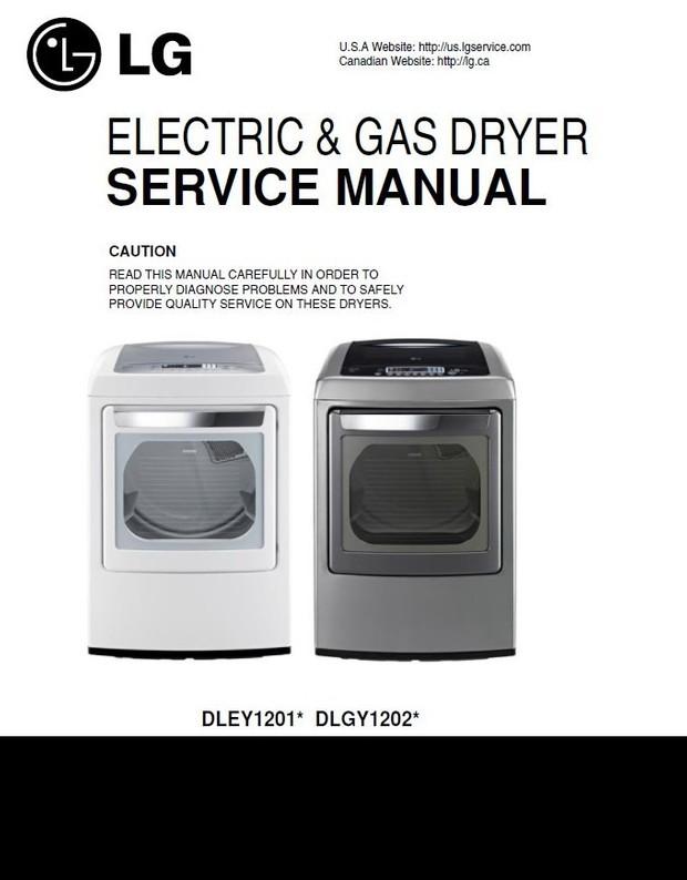 LG DLEY1201V DLGY1202V DLGY1202W Service Manual and
