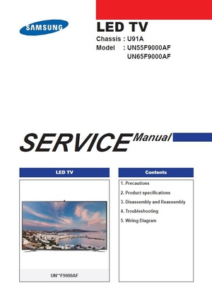 Samsung UN55F9000 UN55F9000AF UN55F9000AFXZA TV Service Manual