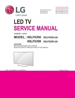 LG 60LF6300 Smart LED TV Service Manual & Repair Guide + Schematics