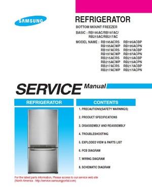 Samsung RB217ACRS RB217ACWP RB217ACBP RB217ACPN Service Manual