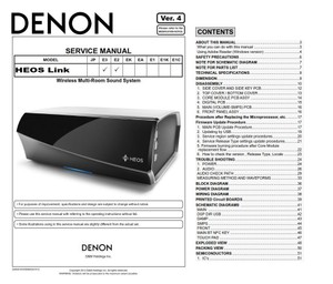 Denon HEOS Link Wireless Pre Amplifier Service Manual and Repair Guide