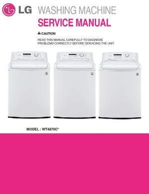 LG WT4870CW Top Load Washer Service Manual & Troubleshooting Guide