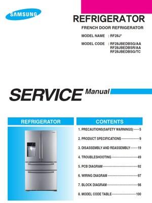 Samsung RF28JBEDBSG RF28JBEDBSR RF28JBEDBSG Service Manual & Repair Instructions
