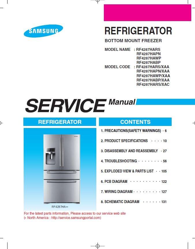 Samsung Rf4287hars Wiring Diagram - Circuit Diagram Symbols •