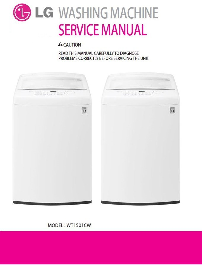 Lg Wt1501cw Washing Machine Service Manual And Repair
