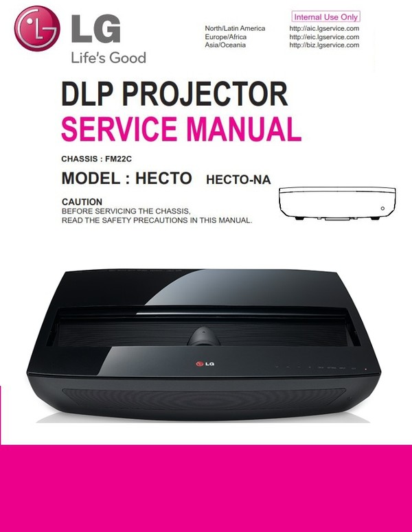 LG HECTO Projector Service Manual and Repair Guide