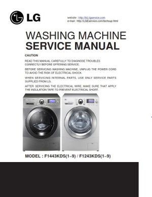LG F1443KDS7 Steam Washer Service Manual and Troubleshooting Guide