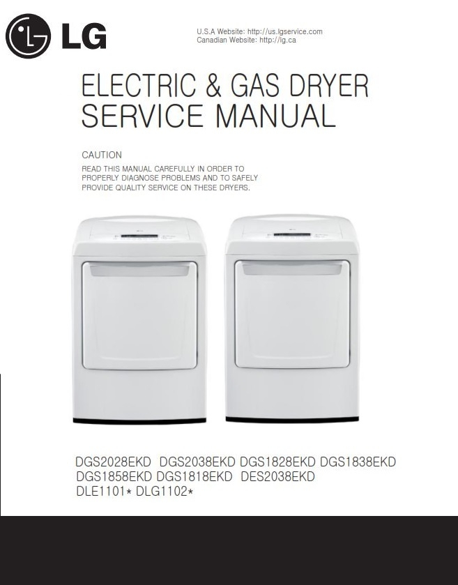 lg dle1101w dlg1102w service manual repair guide rh sellfy com lg condensing dryer service manual lg dryer service manual pdf