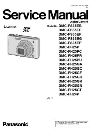 Panasonic Lumix DMC FH24 FH25 FS35 Digital Camera Service Manual & Repair Guide
