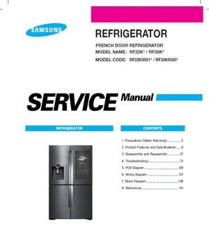 Samsung RF22K9581SG RF22K9581SR RF28K9580SG RF28K9580SR Service Manual