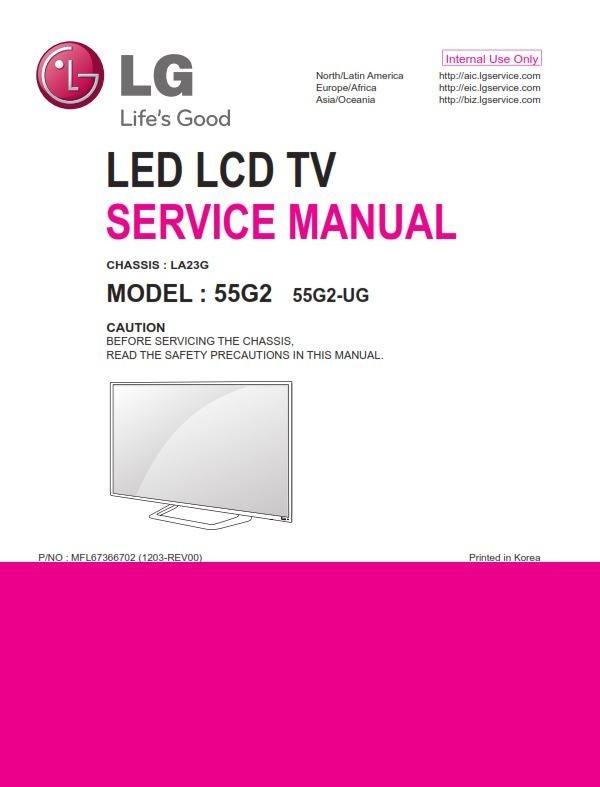 Lg 55g2 Ug Led Tv Service Manual   Schematics