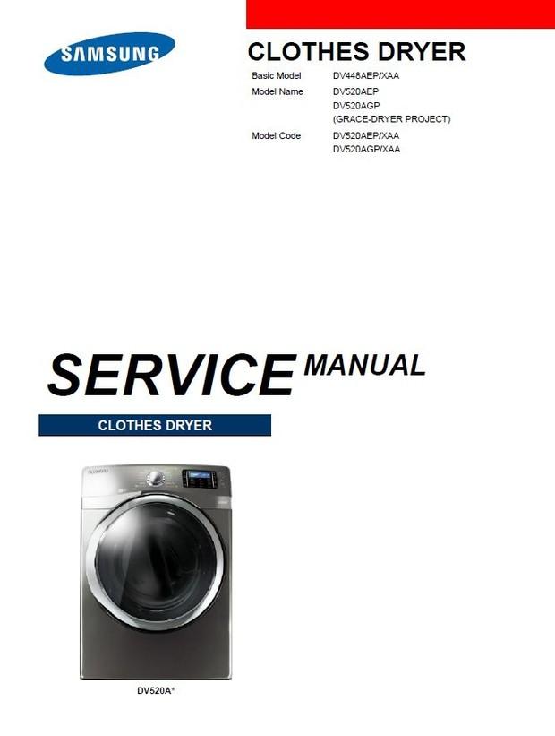 Samsung DV520AGP DV520AEP Dryer Service Manual