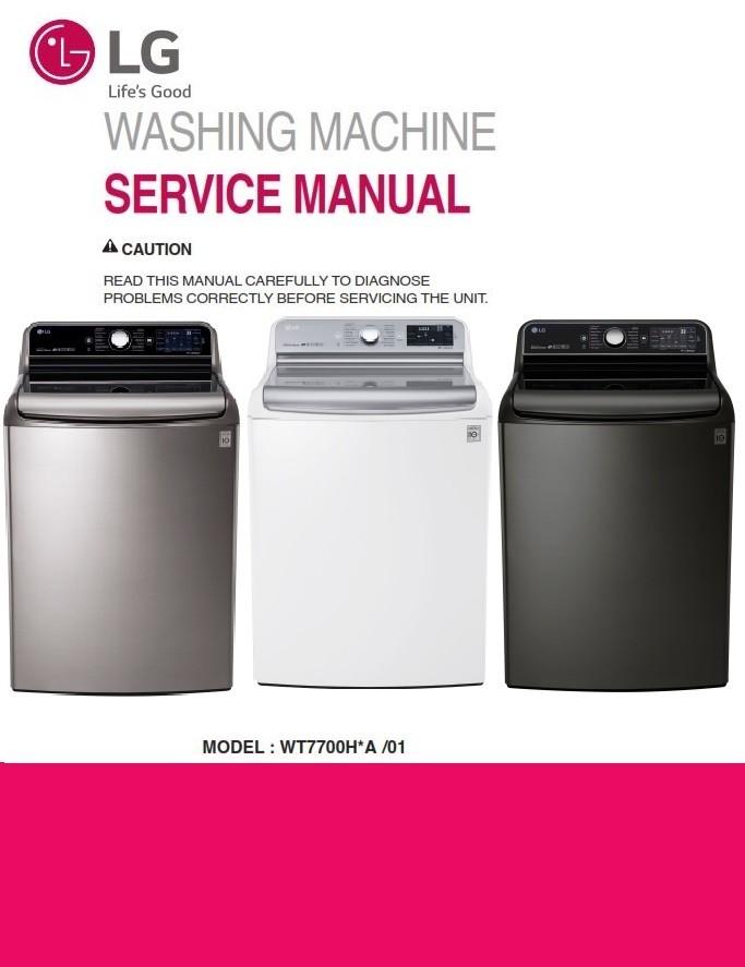 Lg Wt7700hka Wt7700hva Wt7700hwa Washer Service Manual