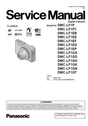 Panasonic Lumix DMC LF1 Service Manual and Repair Instructions