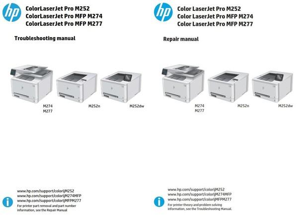 HP Color LaserJet Pro MFP M274 M252n M252dw M277 Service Repair Manual