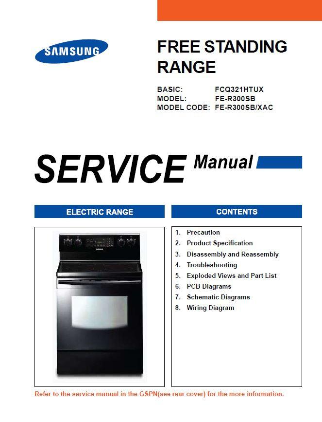 samsung fe r300sb range service manual and repair guide samsung microwave wiring diagram samsung electric range wiring diagram #10