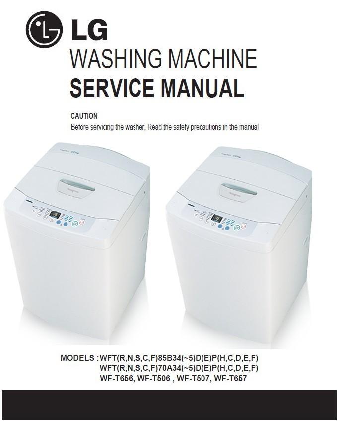 Lg Wf T656 T506 T507 T657 Washing Machine Service Manu