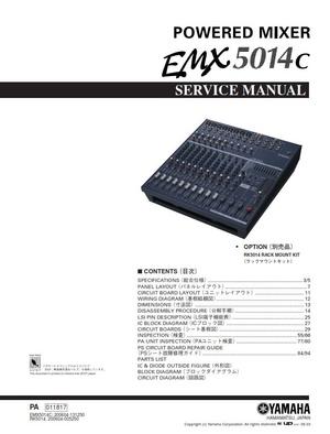 Yamaha EMX5014C Mixer Service Manual and Repair Instructions
