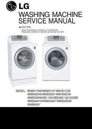 LG WM0532HW WM2042CW WM2444HWM WM2442HW Service Manual