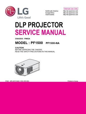 LG PF1500 Portable LED Projector Original Service Manual
