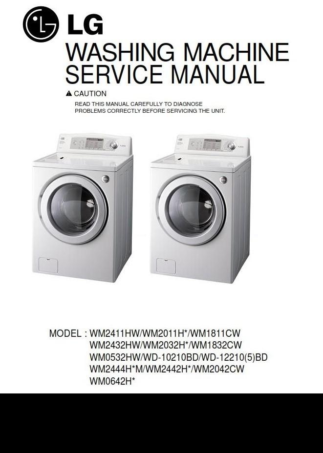 Lg Wd 12210bd 12215bd Washing Machine Service Manual