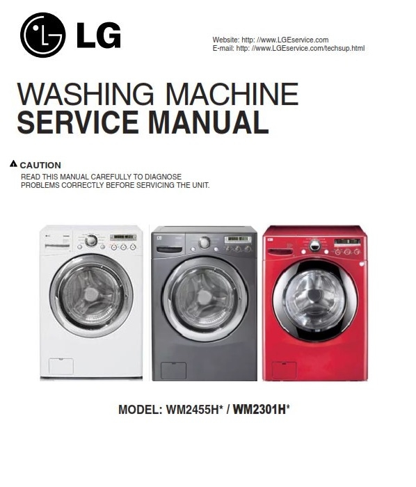 lg wm2301hr washer service manual and repair guide rh sellfy com lg washer troubleshooting manual lg washer dryer repair manual