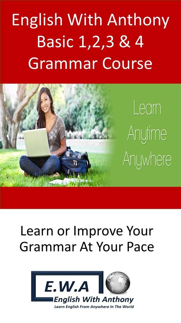 PDF Version: Basic 1,2,3 & 4 Grammar Course