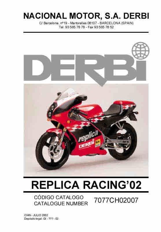 Derbi Manuals for mechanics Workshop Manuals -