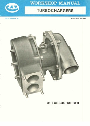 LUCAS CAV TURBOCHARGER - WORKSHOP MANUALCONTENTS