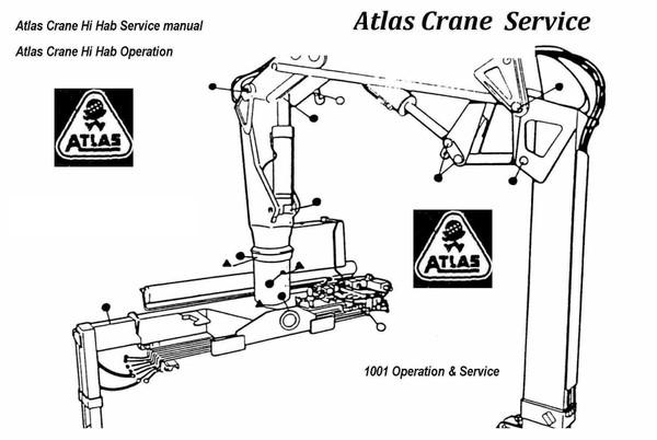 Atlas 100.1 Crane -  AK 307 AK 403c  4003c  80.1 and 100.1 Ram repair