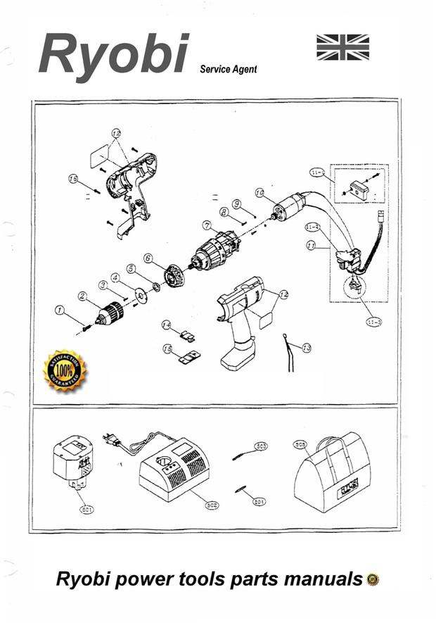 Ryobi Power Tools - Illustrated Parts manuals - Worlshop Plant Hire Tools