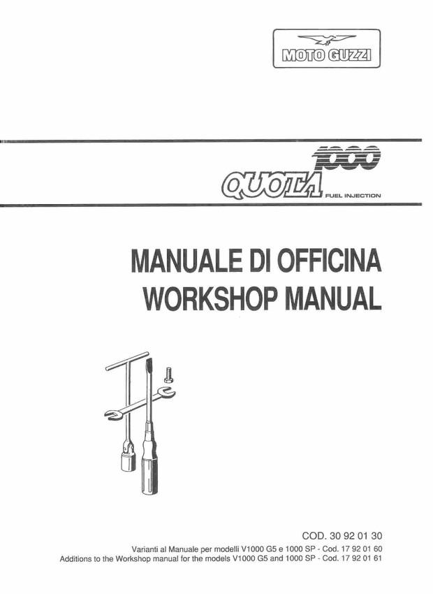 Moto Guzzi Motorcycle Manuals for Mechanics