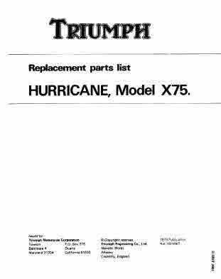 Triumph Triples Service and Parts Manuals