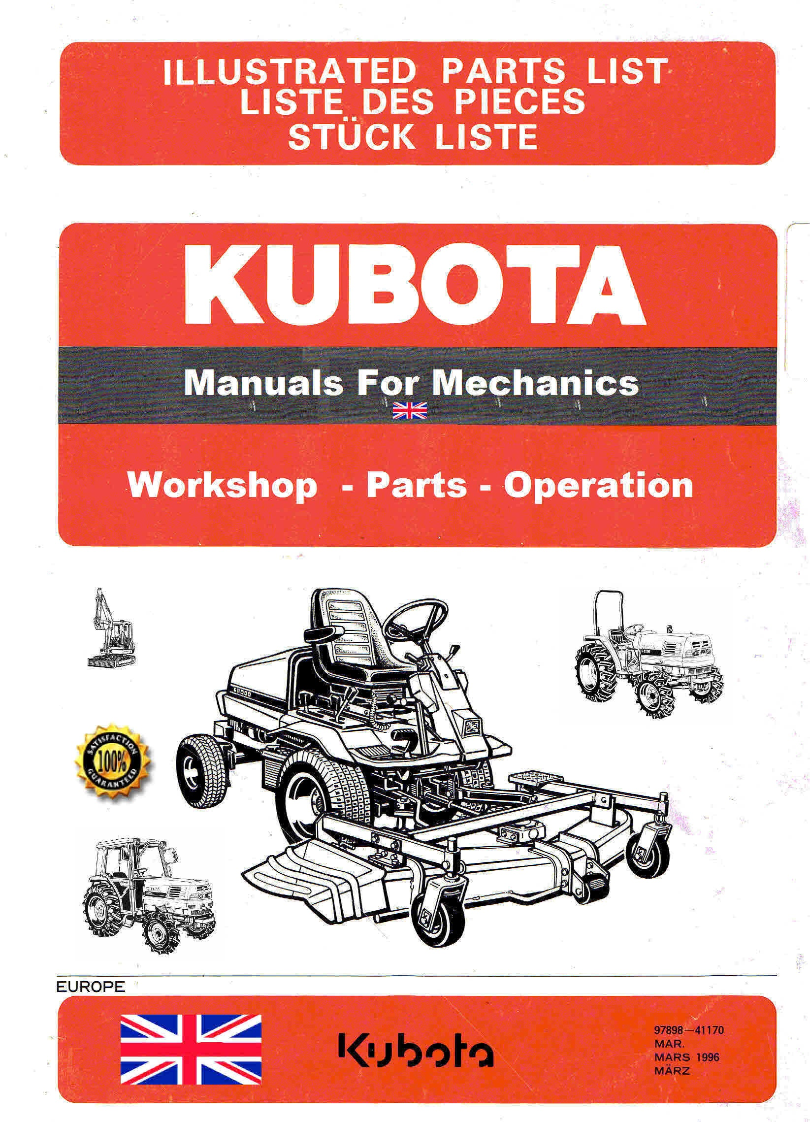 kubota manuals for mechanics themanualman rh sellfy com Kubota T1560 Manual Online Kubota T1560 Tires