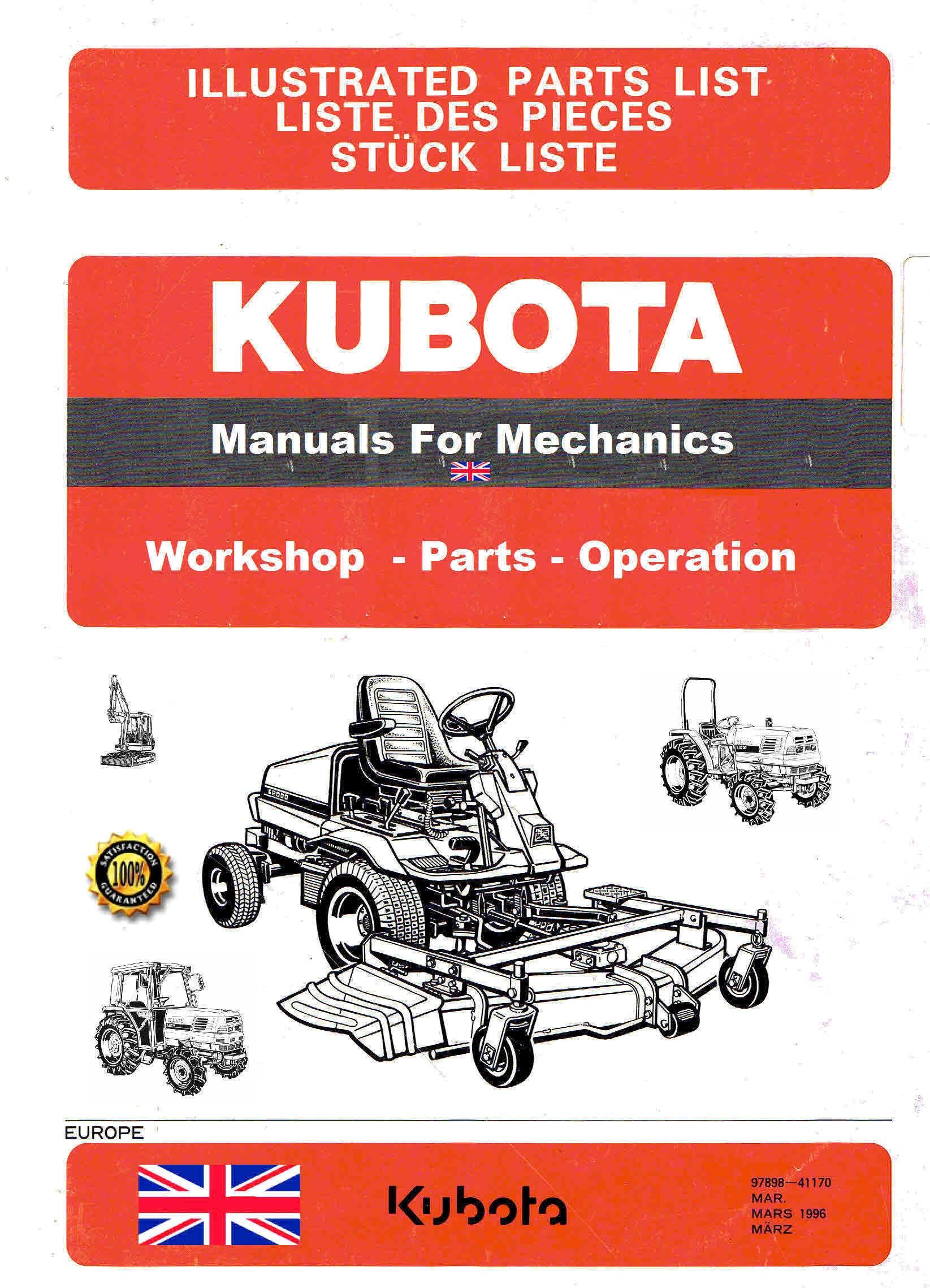 kubota manuals for mechanics themanualman rh sellfy com kubota g21 parts list kubota g21 parts manual