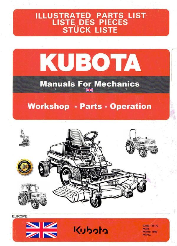 Kubota Manuals for Mechanics