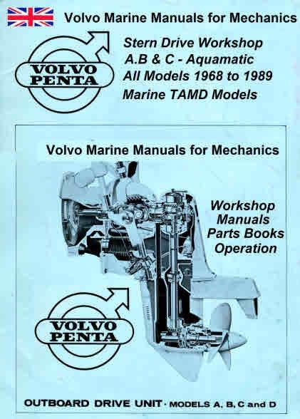volvo marine engine service manuals for mechanics rh sellfy com Volvo Penta SX Outdrive Maintenance Volvo 280 Sterndrive