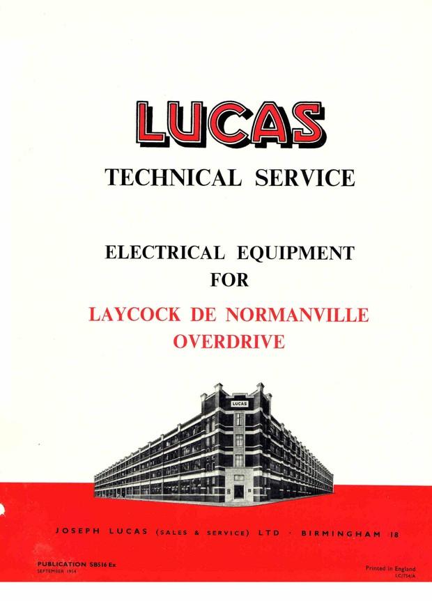 Lucas electrical Leycock de Normanville Overdrive Gearbox