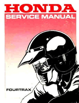 Honda 4 Track and Sand Buggy Manuals for Mechanics