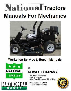National Tractor Mower manuals for Mechanics