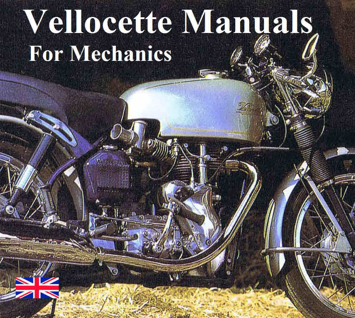 Velocette Vintage Motorcycle Manuals For Mechanics