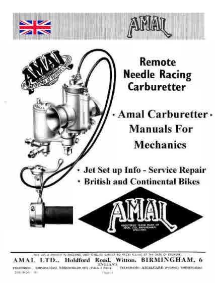 Amal Carburetters for Mechanics