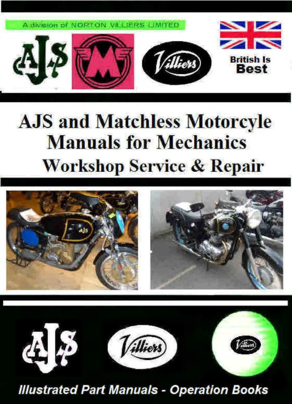 AjS Motorcycles Manuals For Mechanics