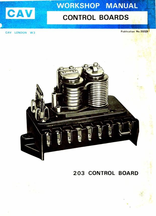 Lucas Cav Controle Board Model 203
