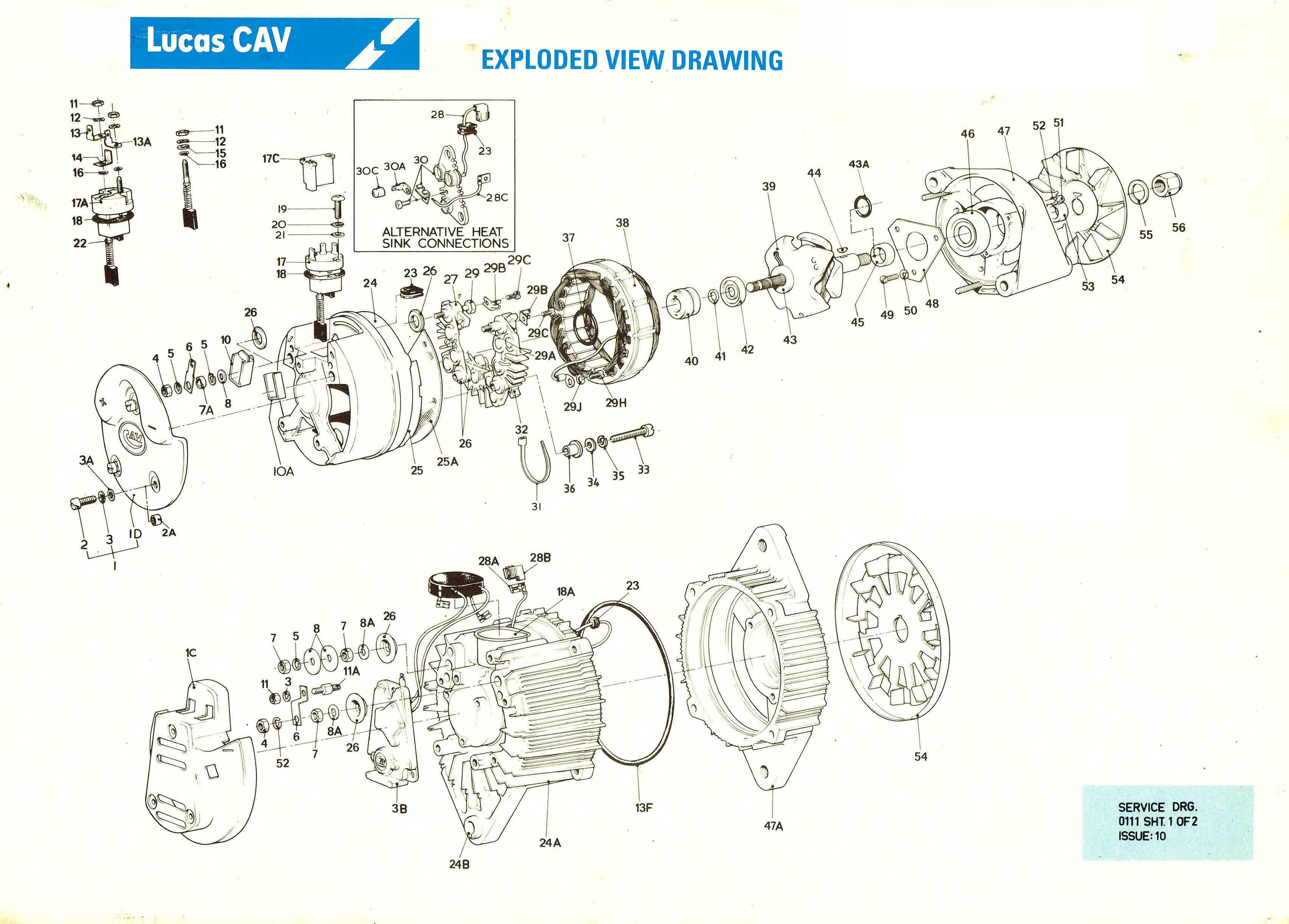 lucas cav aftermarket parts manuals ac alternators s rh sellfy com Lucas Alternator Testing Lucas 18 ACR Alternator
