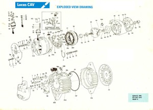 Lucas Cav Aftermarket parts manuals AC Alternators - Starters -  Switch Gear Turbochargers