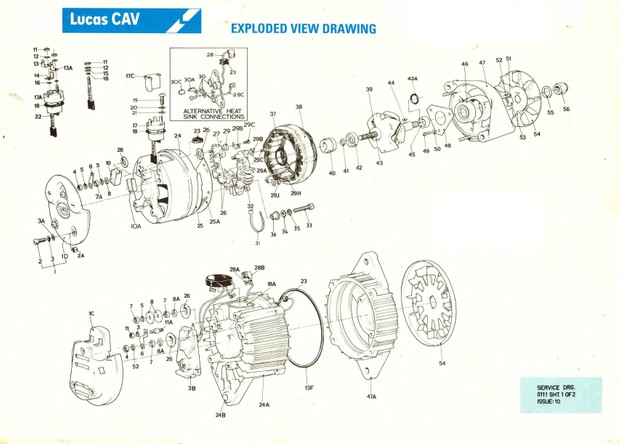 Lucas Cav Aftermarket parts manuals AC Alternators - Starters -  Switch Gear Turbochargers