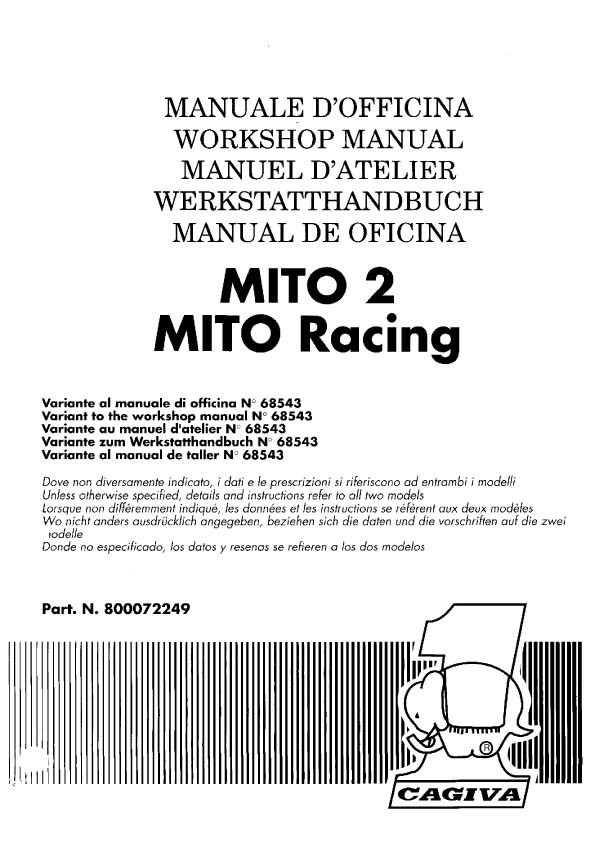 Caviga Motorcycle Manuals for Mechanics