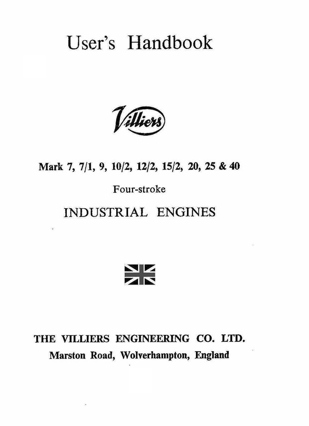 Villiers 7 to 40 Operators and Parts Book